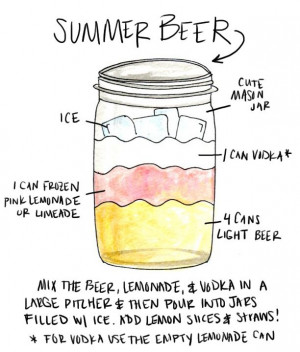Summer Beer Recipe--I use a 6 pack of Bud Light for this :) omg sooo ...