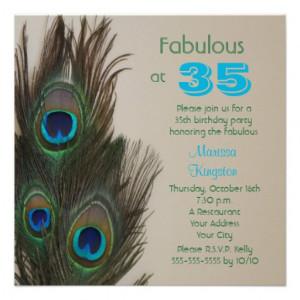 Fabulous at 35 35th Birthday Party Invitation