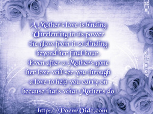 birthday poems for deceased mom