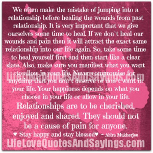 jumping from relationship to quotes