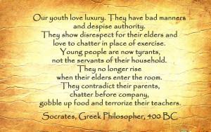 Socrates Cannot Teach...