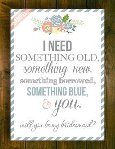 ... Be My Bridesmaid/Maid of Honor/Matron of Honor/Flower Girl Cards (4