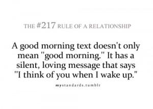 Good Morning Text