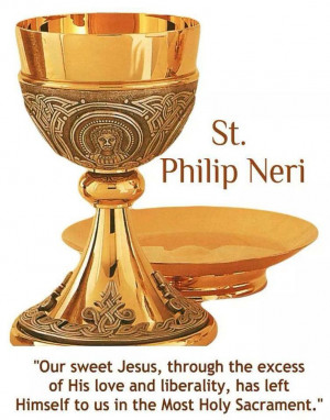 St. Philip Neri ..... What a beautiful chalice