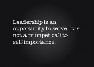 Leadership = Service
