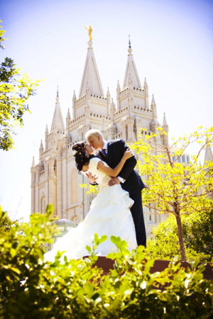 LDS Temple, LDS bride, LDS groom, Photo by Effervescent Media Works ...