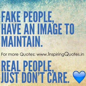 Quotes on Fake People and Real People Thoughts, Images Wallpapers ...
