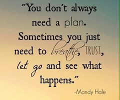 Just let go and see what happens ♥ Take that first step in faith