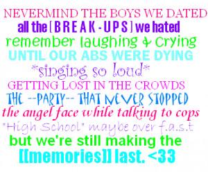 high school memories quotes