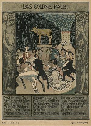 Ignatius Taschner, illustrated poem: Goldenes Kalb