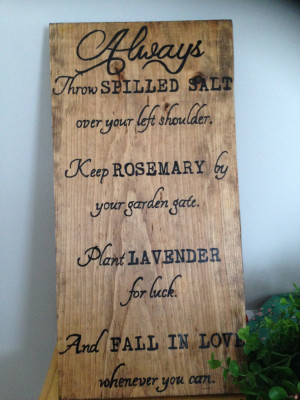... Gallery For - Practical Magic Quotes Fall In Love Whenever You Can