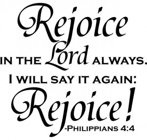 Rejoice in the Lord Always' Vinyl Art Quote contemporary-artwork