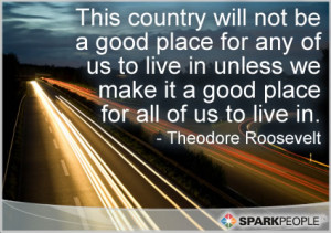 Quote - This country will not be a good place for any of us to live ...