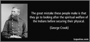 More George Crook Quotes