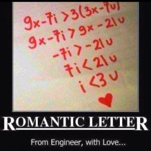Haha cute, nerdy thing :)