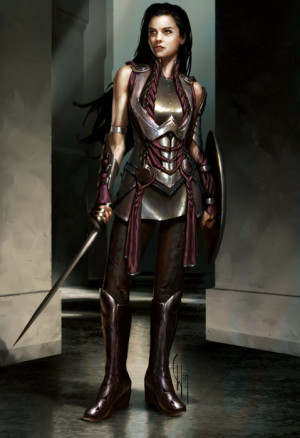 concept art Thor armor sif female armor armor done right