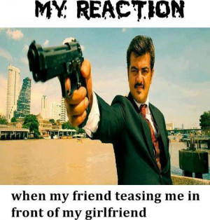 My Reaction when my friend teasing me in front of my girl friend Funny ...