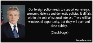 ... of opportunity, but they will open and close quickly. - Chuck Hagel