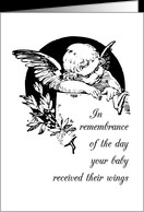 Remembrance on Anniversary of Baby's Death, Angel Wings Loss card ...