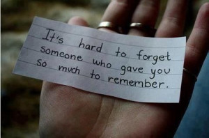 wish I could forget...