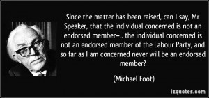 the individual concerned is not an endorsed member–.. the individual ...