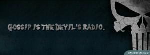 Gossip is the devil's Radio - Facebook Cover