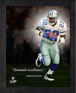 ... about Emmitt Smith Dallas Cowboys NFL Pro Quotes Framed Photo 12x15 #1