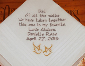 ... hankerchief gift custom embroidery hanky father in law your own