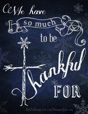 ... So Much to Be Thankful For from Ann Voskamp @ www.aholyexperience.com