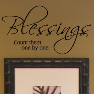 Details about Blessing Vinyl Wall Lettering Home Decor Quotes Sayings