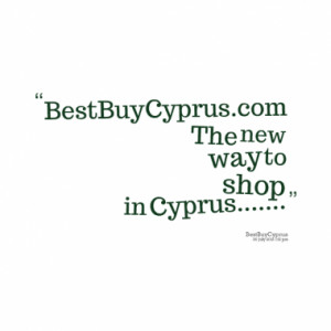 BestBuyCyprus.com The new way to shop in Cyprus.....
