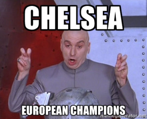 Dr. Evil Air Quotes - CHELSEA EUROPEAN CHAMPIONS