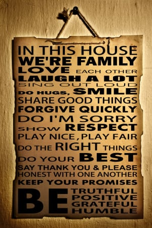 Home Wall Quotes House Family Rules Wall Quote Premium Removable Decor ...