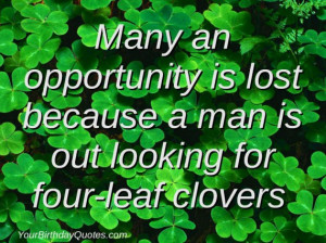 Quote About Life for St Patrick's Day