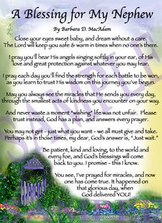 ... pick a poem the purple wishing gate tm a blessing for my nephew is