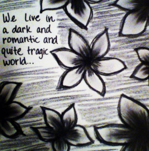 quote #charcoal #flowers