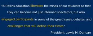 President Lewis M. Duncan Quote