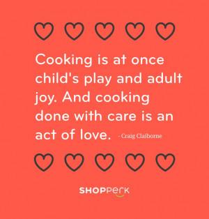 Le ricerche correlate degli utenti: love cooking quotes