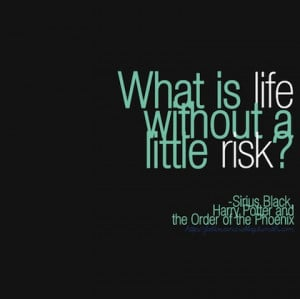 without a little risk harry potter picture quote