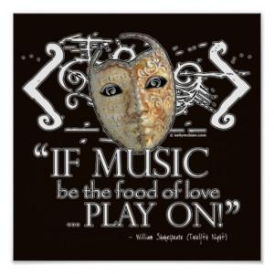 Twelfth Night Music Quote Print
