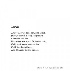 always, cold, drown, love, quote, sad, sea, someone, time, typo ...