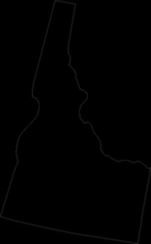 Idaho State Map Outline