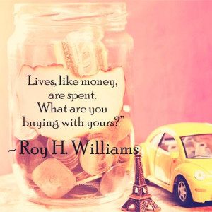 ... are spent. What are you buying with yours?