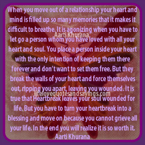 When You Move Out Of A Relationship..