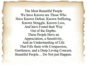 Most beautiful people quote