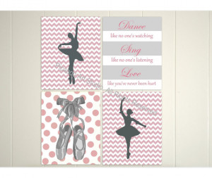 wall art, chevron art, ballet dancer, inspirational dance quotes ...