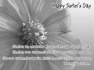 Sister's Day Greetings,Wallpapers,Quotes,Poems and Wishes
