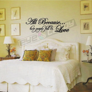 ... fell in love....Bedroom Wall Words Quotes Sayings Lettering Decals