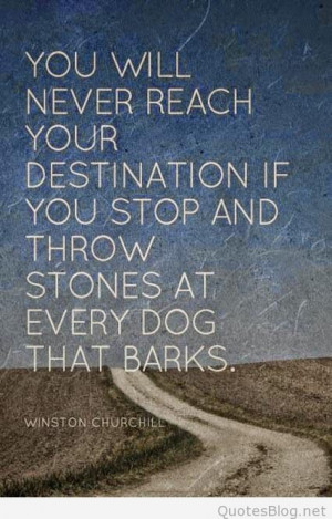 Reaching your destination quote