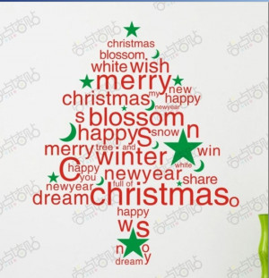 2pcs/lot ,Wall stickers,PVC Wall Papers,Christmas Winter Christmas ...